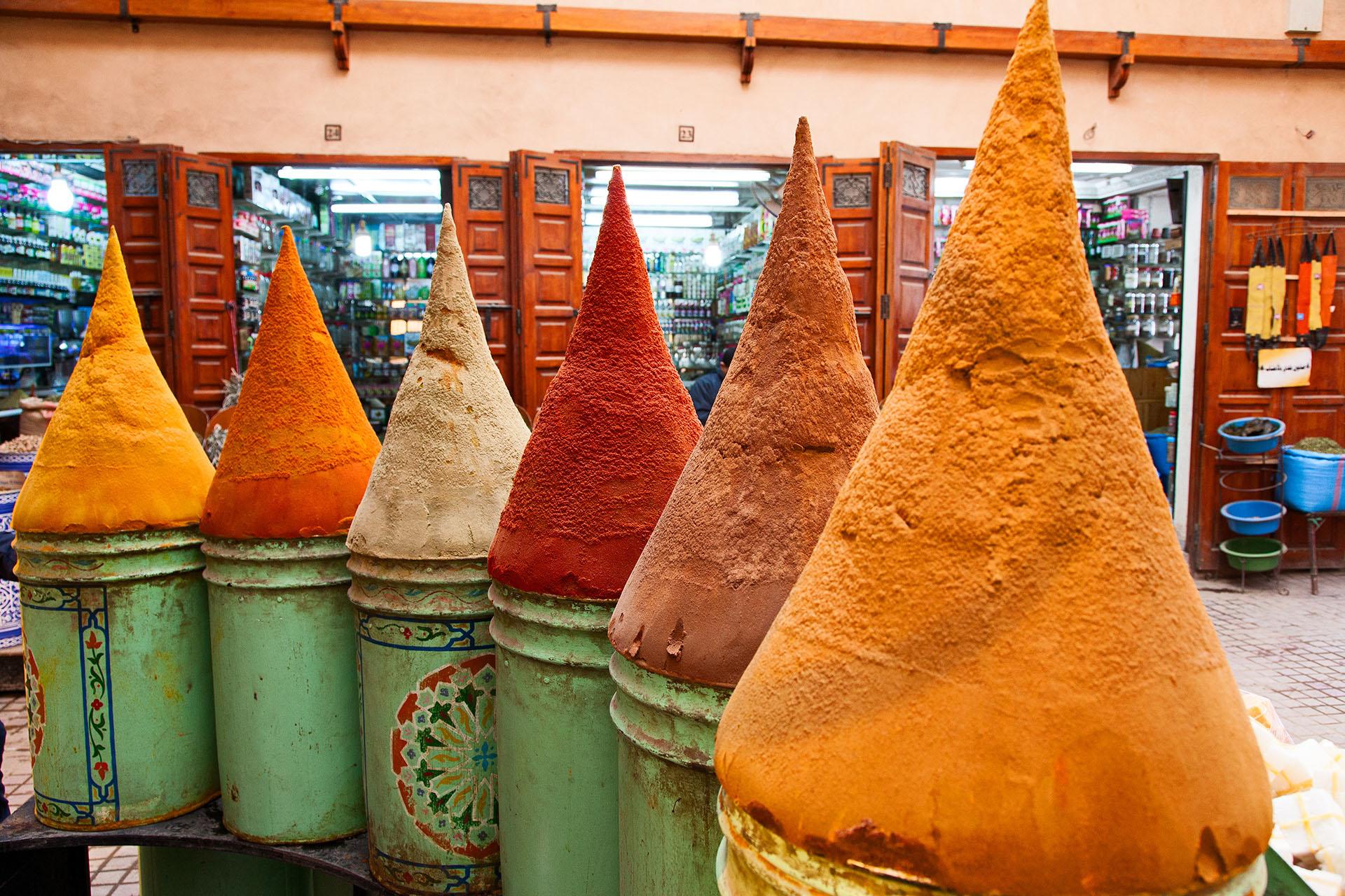 Spezie nel souk di Marrakech