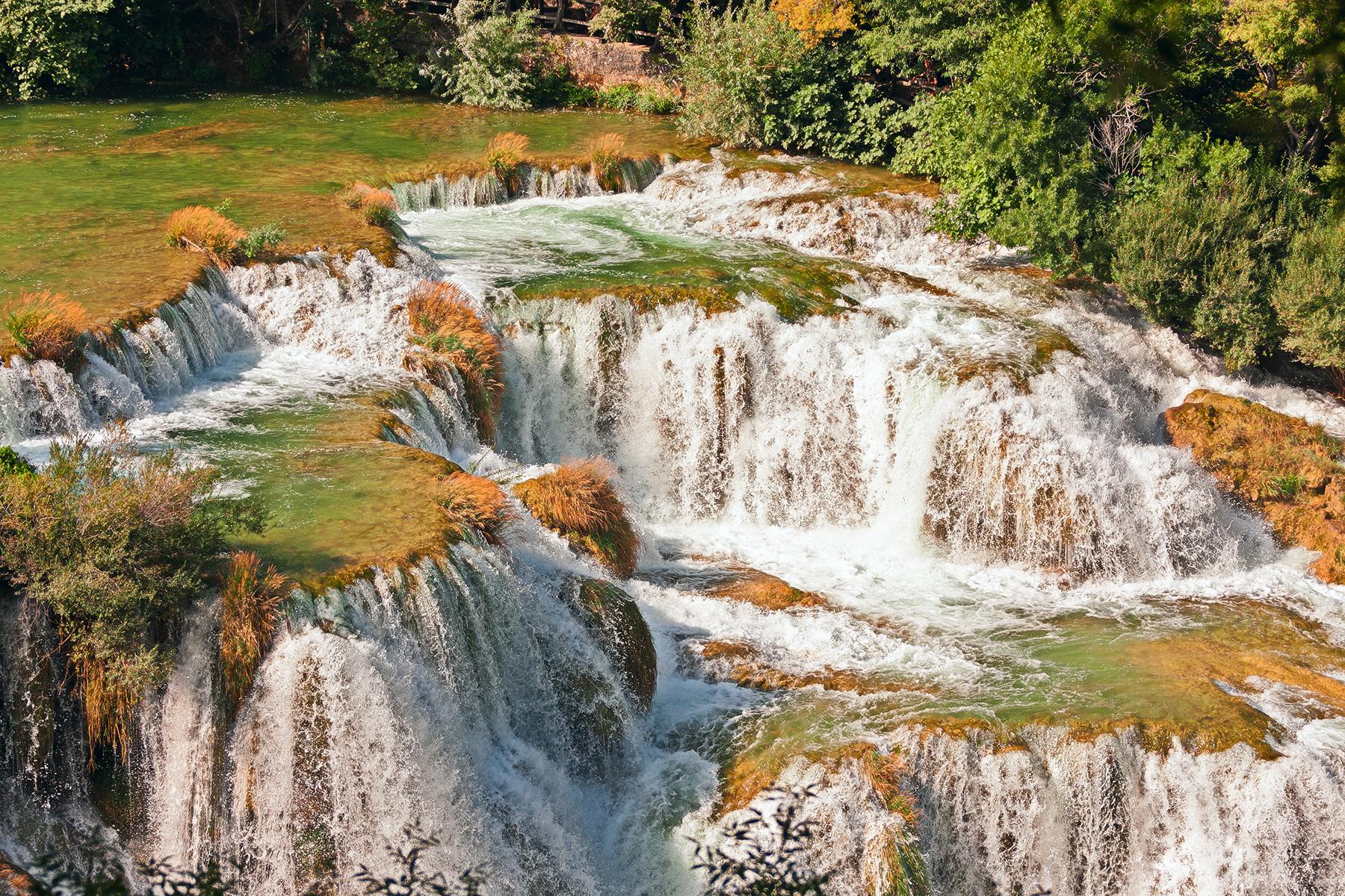 Watefall at Krka National Park view
