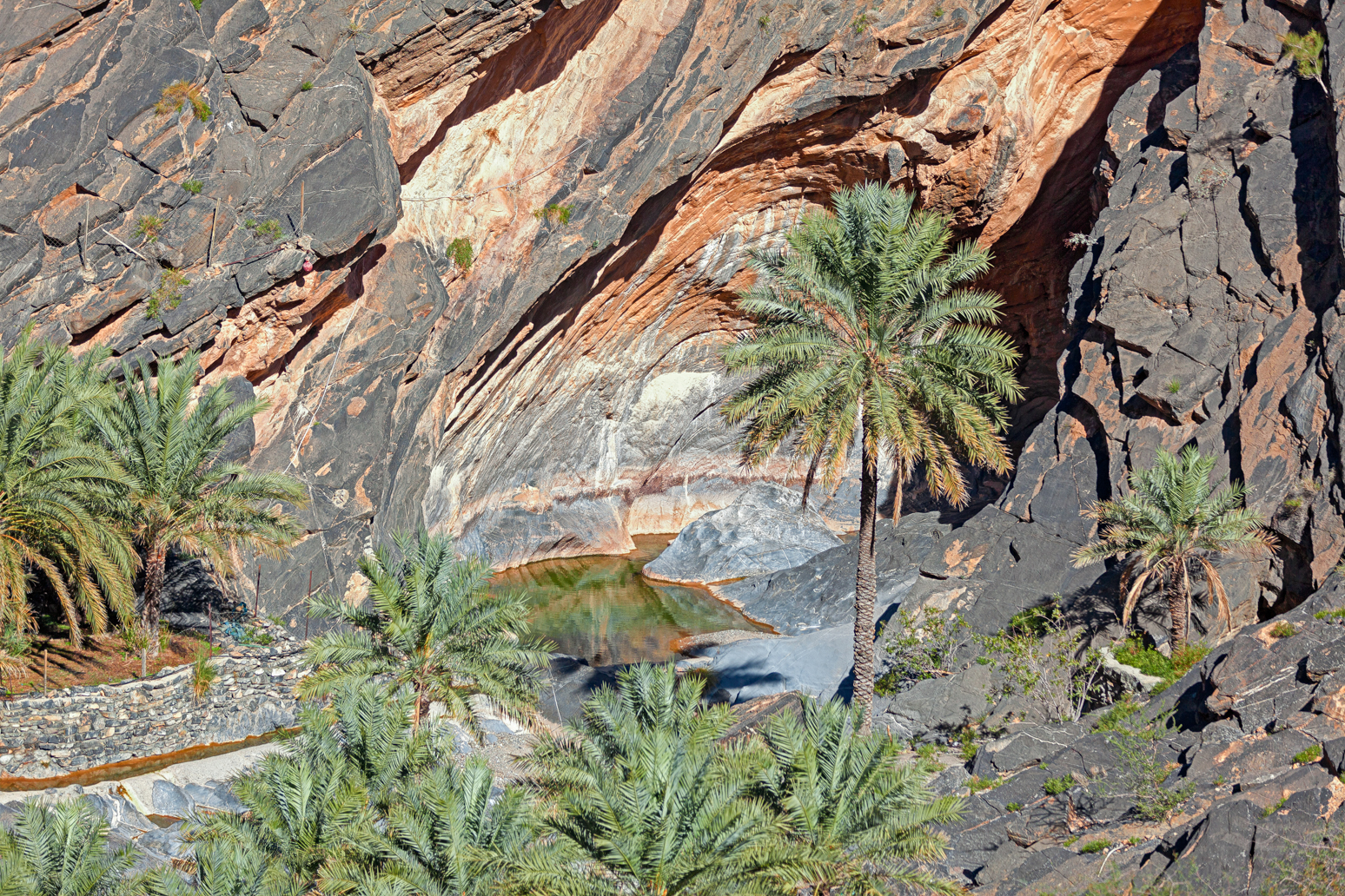 Wadi in Al Hajar Mountains