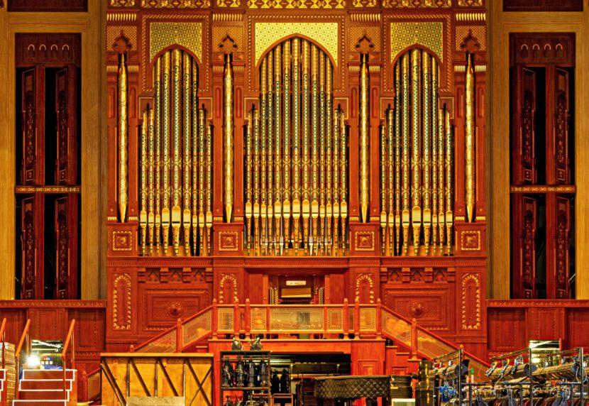 Pipe Organ in Royal Opera House in Muscat, Oman