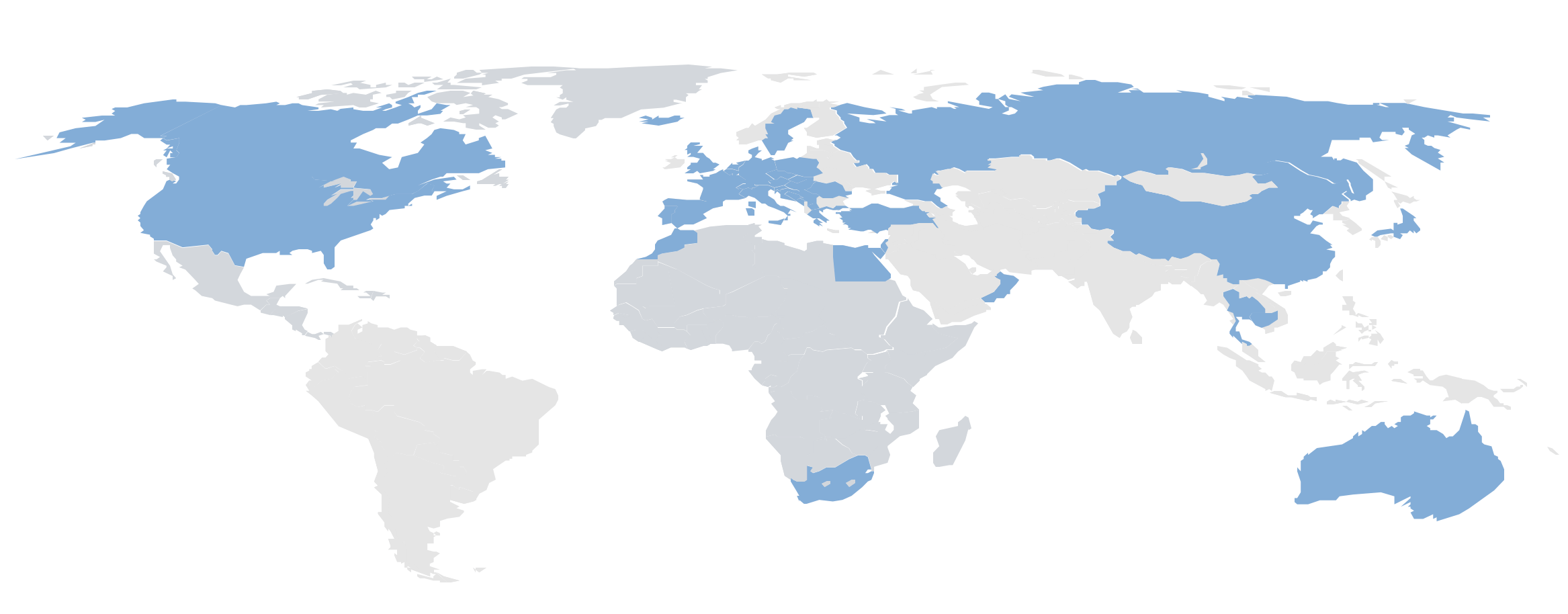 Paesi visitati da Nicola Muraro gennaio 2020