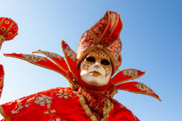 Maschere al Carnevale di Venezia 2020
