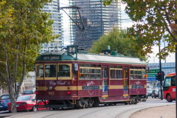 Melbourne - Tram sulle rotaie