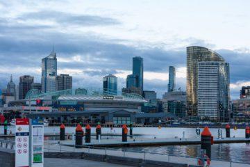 Melbourne - Skyline nell'ora blu