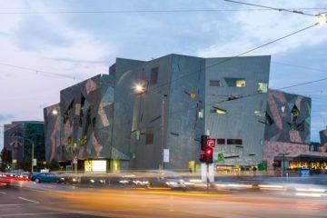 Melbourne - Ian Potter Center al tramonto