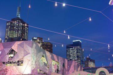 Melbourne - Ian Potter Center durante l'ora blu